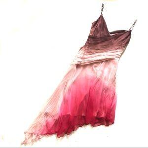 Laundry by Shelli Segal silk pink brown dress/ 10